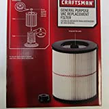 New Craftsman 9-17816 Filter Fits All Current Craftsman Vacuums 5 Gallons and Above ... (2 Pack)