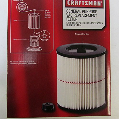 Craftsman 9-17816 Filter Fits All Current Craftsman Vacuums 5 Gallons and Above (Shopvac Air Cleaner compare prices)