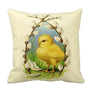Amazon.com - Create Lists Little Chick Easter 16x16inch Customized Square Throw Pillow Case ...