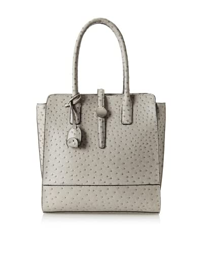 London Fog Women's Kenzie Tote, Grey Ostrich As You See