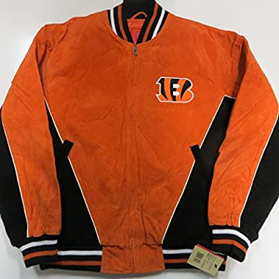 G-III Cincinnati Bengals Mens XX-Large Full Zip Embroidered Suede Jacket ACIB 5 616 XXL