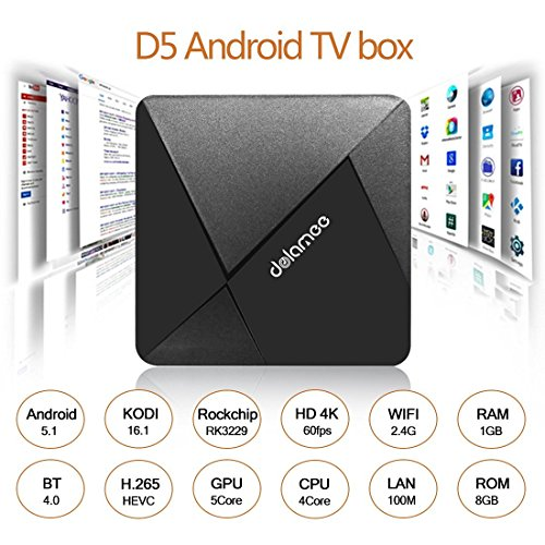 Great Features Of DOLAMEE D5 Android TV Box with Rockchip RK3229 Quad-core Cortex A7 1.5GHz 32bit An...