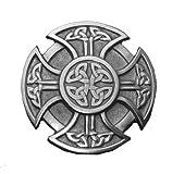 Celtic Design Cross Pewter Belt Buckle