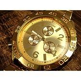 オールゴールド 自動巻き 腕時計 金色文字盤 ステンレス スワロフスキー使用 ブランド VenDome 【並行輸入品】
