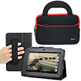 Evecase SlimBook Leather HandStrap Stand Case with Handle Bag for Acer Iconia B1-710 - 7 inch Android Tablet