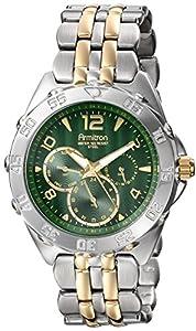 Armitron Men's 20/4664GNTT Multi-Function Green Dial Two-Tone Bracelet Watch