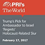 Trump's Pick for Ambassador to Israel 'Regrets' Holocaust-Related Slur | Christopher Woolf