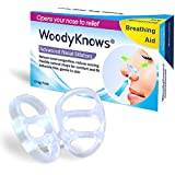 Snoring & Breathing Aid - INVISIBLE NASAL STRIPS from WoodyKnows® - Advanced Nasal Dilators / Snore Stoppers / Nose Vents - Effective, Comfortable, and Durable Anti Snore Solution - Breathe and Sleep Right 3-Count (S M L)