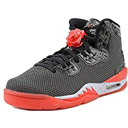 Nike Jordan Kids Air Jordan Spike Forty Bg Black/Fire Red/Cement Grey Basketball Shoe 5 Kids US