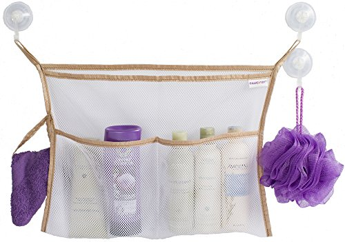 Bath Toy Organizer - Best Storage Holder for Baby Toys or Shower Caddy - 3 Strong Vacuum Suction Cups (Best Shower Caddy compare prices)
