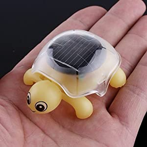 Mini Solar Educational Toy Little Tortoise Solar Powered Turtle with Solar Panel for Kids Funny Toy