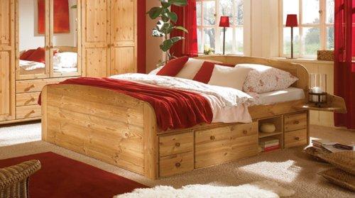 gong gede massives kiefer doppelbett schubladenbett. Black Bedroom Furniture Sets. Home Design Ideas