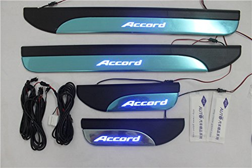 LED Side Door Sill Scuff Plate for Honda Accord 2013 2014