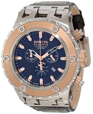 Invicta Men's 10080 Subaqua Reserve Chronograph Black Textured Dial Watch