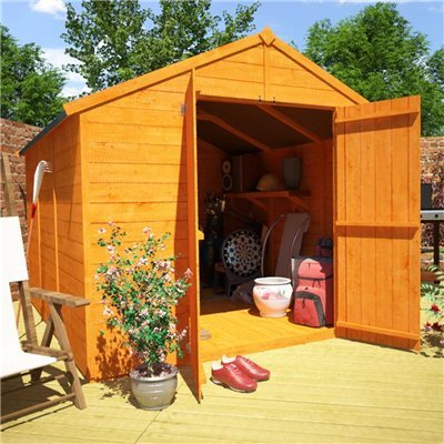 BillyOh 9' x 8' Windowless Lincoln Tongue And Groove Double Door Apex Wooden Garden Shed