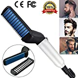 Beard Straightener For Men - USA Designed 2020 Beard Straightening Comb for Men- Electric Ionic faster Quick Heated Brush Universal Voltage Portable Travel Hair Styling Long Beard