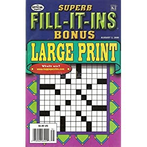 Superb Fill It Ins Bonus - Large Print