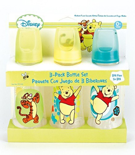 Winnie The Pooh Three Pack Deluxe Baby Bottle Set