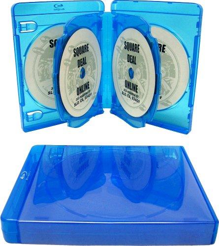 Imagen de (1) Vacío de 22 mm Grueso SEIS DE LA CAPACIDAD DEL DISCO Azul Reemplazo Cajas / Estuches para Blu-Ray DVD Movies - Con capacidad para 6 discos # DV6R22BR