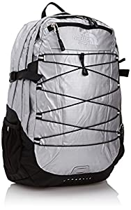 The North Face Women's Borealis Backpack - Metallic Silver Rip Stop/TNF Black, One Size