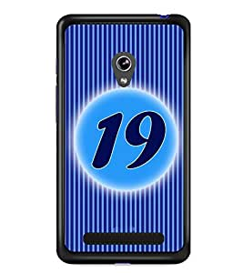 Fuson 2D Printed Numerology Designer back case cover for Asus Zenfone 5 - D4239