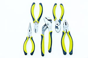 Craftsman Evolv 5 Piece Pliers Set, 9-10047 (Color: Green, Tamaño: 1-Pack)