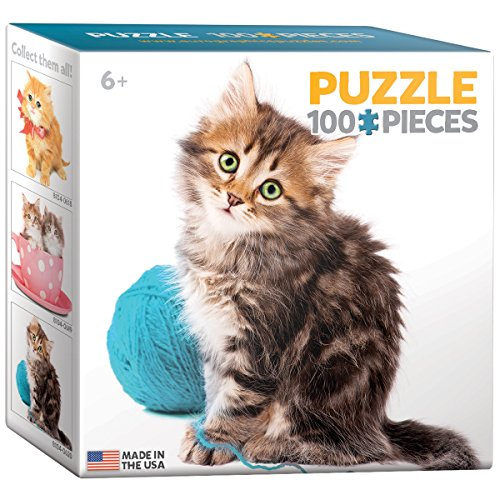 EuroGraphics Cat with Wool Mini Puzzle (100-Piece)