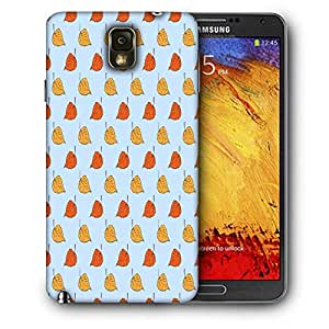 Snoogg Opposite Leaves Blue Printed Protective Phone Back Case Cover For Samsung Galaxy NOTE 3 / Note III