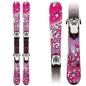 K2 Luv Bug 4.5 Kids Skis with Marker Fastrak 2 4.5 Bindings 136cm
