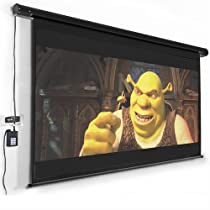 "120"" Electric Motorized Remote Projection Screen Movie Projector Black Matt 16:9"