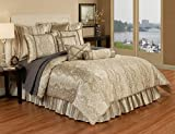 Austin Horn Classics 4 piece Hampshire Bedding Collection, Queen, Light Gold/Brown