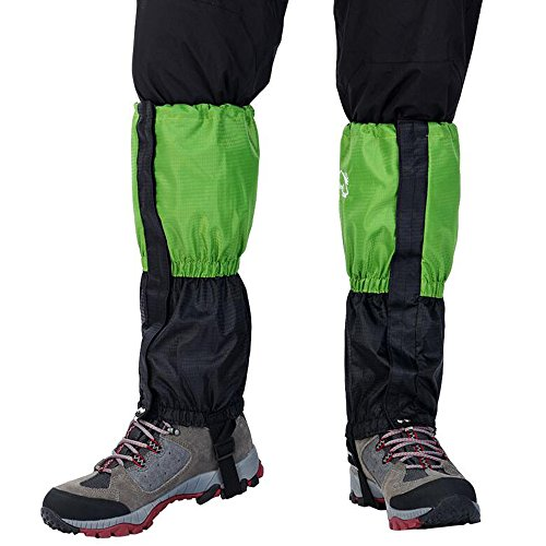 Ezyoutdoor Unisex Waterproof Snowproof Walking Gaiters Snow Legging Leg Cover Wraps for Outdoor Hiking Climbing Hunting Camping (Green) (Chicken Limbo compare prices)
