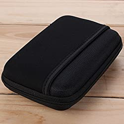 Digital USB Storage Cable Travel Earphone Organizer Bag Case Insert Flash Drives (Black)