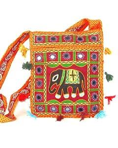 Orange Womens Cross Body Bag  Beautiful Tote Beach & Shopper Bag  Canvas Travel Bag