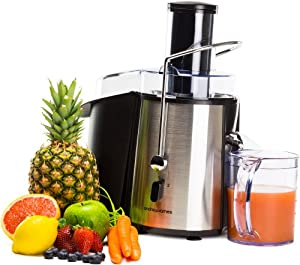 Andrew James Professional Whole Fruit Power Juicer, Includes 2 Year Warranty, Juice Jug And Cleaning Brush