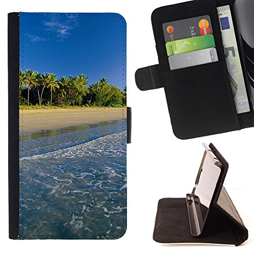 DEVIL CASE - FOR Samsung Galaxy S4 Mini i9190 - Palm Trees - Style PU Leather Case Wallet Flip Stand Flap Closure Cover (Samsung S4 Mini Palm Tree Cases compare prices)