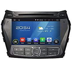 See Carfond 8 Inch Android 4.4.4 Double Din Car DVD Player GPS Navi Stereo In Dash Navigation Support Bluetooth OBD2 DVR AV-IN 3G/Built-in Wifi/hotspot AM/FM Radio 1080P ipod for HYUNDAI IX45 2013/Santa Fe 2013(Plug and Play,Easy Installation) Details