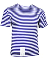 Russian Paratrooper Telnyashka T-Shirt - Light Blue Stripes