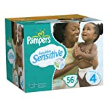 Pampers Swaddlers Sensitive Size 3 Diapers, 156 Count (Packaging May Vary)