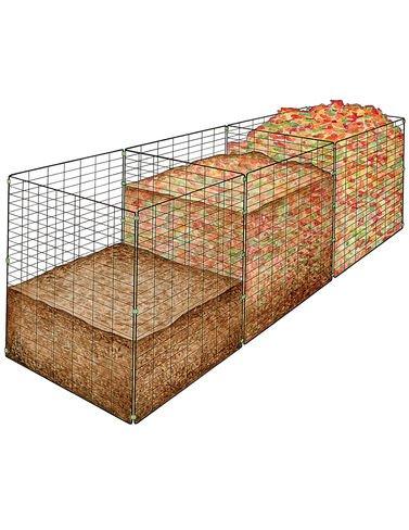 3-Bin-Wire-Composter