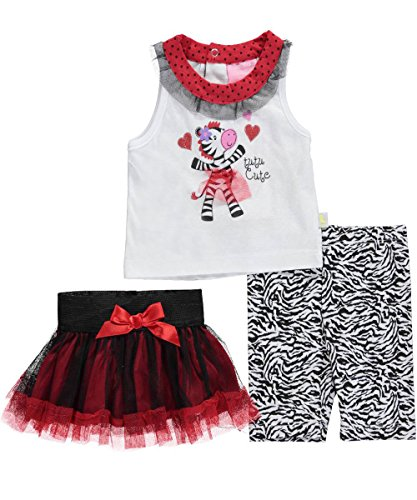 "Duck Duck Goose Baby Girls' ""Zebra Magic"" 3-Piece Outfit"