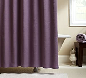 Pinzon Signature Diamond Matelasse Shower Curtain Plum Extra Long Shower Curtain