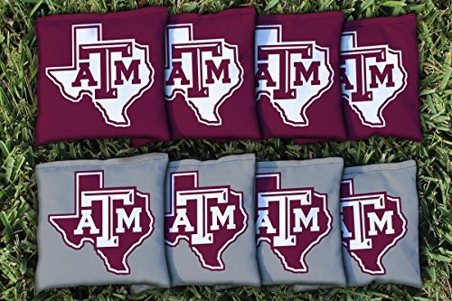 Texas A&M University Aggies Replacement Cornhole Bag Set (corn filled) (Texas Corn Hole Bags compare prices)