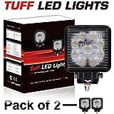 """Tuff LED Lights 4"""" (Pack of 2 pcs) Inch Square 27watt LED Work Lamp Light 1550 Lumen, Off Road, Atv, Utv, Polaris Ranger"""