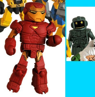 Picture of Art Asylum Marvel Minimates Series 32 Mini Figure 2Pack Extremis Iron Man Titanium Man (B0034KX9SS) (Iron Man Action Figures)
