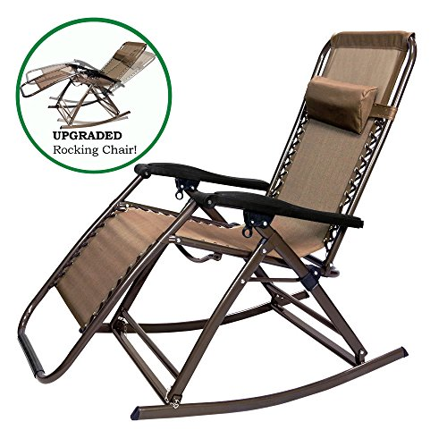 ... Rocking Chair Outdoor Lounge Patio Folding Reclining Chair APL1271