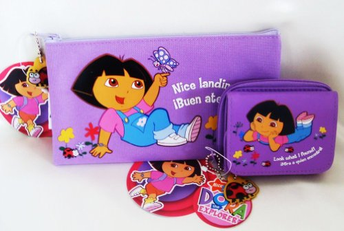 Dora the Explorer - Dora Animal Friends Pencil Case and Purse Gift Set