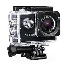 Action Kamera WIFI 2,0 Zoll, VTIN Full HD 1080P Sport Action Camera Cam Wasserdicht 170 ° Weitwinkel mit 2 Verbesserten Batterien und Zubehör Kits  Von VicTsing