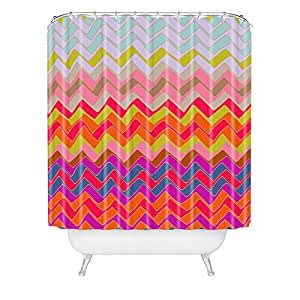 DENY Designs Sharon Turner Geo Chevron Woven Polyester Shower Curtain Multi