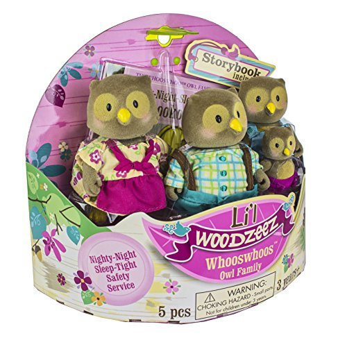 Li'l Woodzeez Whooswhoo Owl Family 4-Piece Bedtime Set with Storybook (Lil Woodzeez Treehouse compare prices)